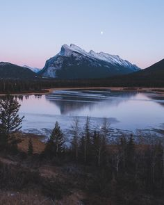 Just after sunset at Vermillion Lakes Alberta [OC] [24963120] - Posted by: mcdejer