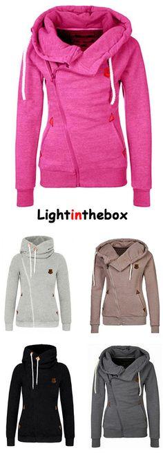 Women's Casual/Daily Simple Hoodie Jacket