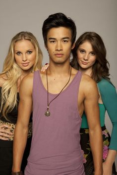 "Alicia Banit , Jordan Rodrigues, and Xenia Goodwin, portray the characters of Kat, Christian and Tara respectively in the tv show ""Dance Academy""........"