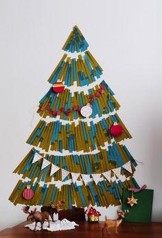 Decoritzion: Árboles de Navidad de pared / Wall Christmas trees