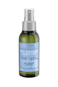 Pillow spray- The Aromachologie Relaxing Pillow Mist combines the soothing properties of 100% natural essential oils (lavender, tea tree and geranium) with softening lime blossom extract, to calm tensions and soothe nerves. Its aromatic fragrance helps ease away stress and anxiety and promotes a peaceful, repairing sleep.