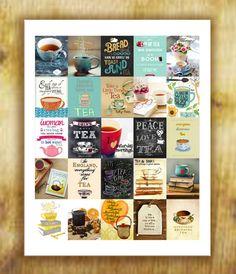 Tea Stickers for Erin Condren Life Planner  Digital file
