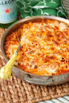 skillet baked ziti-- a great one dish meal!! (might skip the sausage, add mushroom)