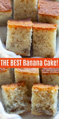 Banana Cake - the best and moist banana cake from scratch. Easy and healthy banana cake recipe without baking powder and calls for only 5 ingredients! Healthy Banana Cakes, Moist Banana Cake Recipe, Healthy Cake Recipes, Banana Bread Recipes, Cupcake Recipe Without Baking Powder, Banana Bread Recipe Without Baking Soda, Recipes For Bananas, Baking Powder Recipe, Cake Recipes Without Eggs