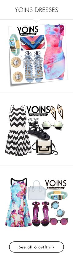 """""""YOINS DRESSES"""" by milovanovic ❤ liked on Polyvore featuring Post-It, Steve Madden, yoins, Kate Spade, vintage, Brian Atwood, Givenchy, Quay, TIBI and Louis Vuitton"""