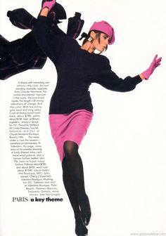 """Fall Signals"", Vogue France, June 1985Photographer : Bill KingModel : Yasmin Le Bon"