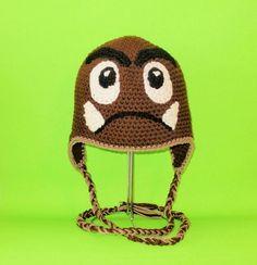 For my Mario freaks Crochet For Kids, Crochet Baby, Knit Crochet, Crochet Beanie, Knitted Hats, Crochet Super Mario, Patron Crochet, Cool Hats, Craft Fairs