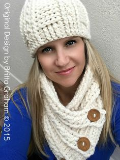 Cabled Scarf Crochet Pattern for chunky yarn - Fisherman Neck Wrap with FREE crochet hat pattern No. Crochet Scarves, Crochet Hooks, Free Crochet, Knit Crochet, Lion Brand Wool Ease, Neck Wrap, Chunky Yarn, Loom Knitting, Beret