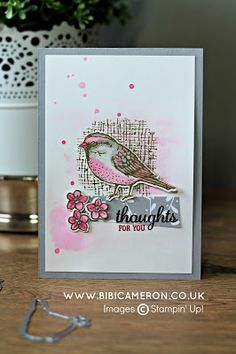 BEST BIRDS STAMP SET BY STAMPIN' UP! GLOBAL DESIGN PROJECT COLOUR CHALLENGE GDP045 | UK Independent Stampin' Up! Demonstrator Bibi Cameron