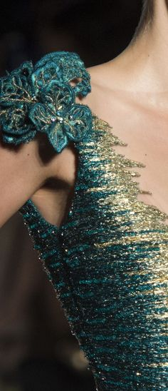 Teal And Gold, Teal Green, Red Gold, Pink Purple, Olive Green, Yellow, Couture Details, Fashion Details, Gold Fashion