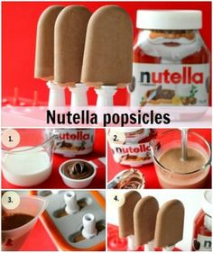 Easy to Make Nutella Popsicles