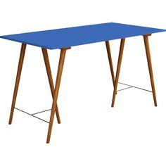 Escrivaninha Artsoli Ipanema - Castanho/Azul - Submarino.com.br
