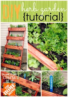 Herb Garden, DIY, Pallets, Pallet Projects, Pallet Planters, Vertical Gardening, Garden Projects, Outdoor Projects, Upcycled, Herb Garden
