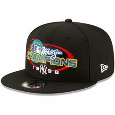 ae865d22c14 Men s New York Yankees New Era Black World Series Champions Flashback  9FIFTY Adjustable Snapback Hat
