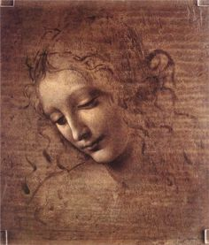 Leonardo da Vinci - Head of a Young Woman. This was so incredibly beautiful - I saw it in Memphis at one of the last Wonders exhibits. art