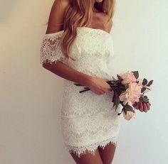 Kısa dantel elbise- kokteyl- davet- kına- düğün- gelin- nişan- short lace dress- engagement- party- coctail dress
