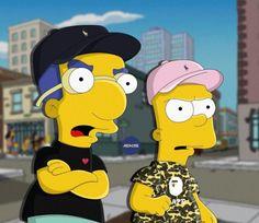 Die Grafik-Designerin Olga Wójcik aus Polen stellt die allseits beliebten Simpsons, in unterhaltsamen Illustrationen als liebenswürdige Sneakerheads dar.