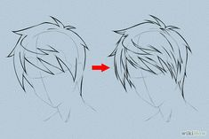 Tutorials on 6 Ways to Draw Anime Hair, from wikiHow. >> This is a great reference! Not only are there step-by-step tutorials on how to draw hair for male and female characters, but there are also 2 charts of many different male/female hairstyle ideas. Check it out!