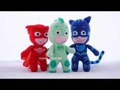 CANAL CROCHET: PJ Masks amigurumi tutorial (heroes en pijama)