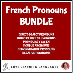 French pronoun resources including games, task cards, worksheets and exercises, complete lessons, audio drills, challenge cards, and much more. Enjoy big savings with this bundle, and as I create more French pronoun resources I'll add them at no additional cost!➯ Just click here to follow my store!