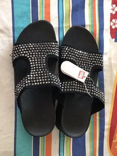 3e80228582f5 Fitflop Size 7 GLITZ Microfibre sandal  fashion  clothing  shoes   accessories  womensshoes  sandals (ebay link)
