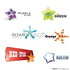 Six Star LOGO icon vector