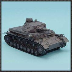 WWII Pz.Kpfw. IV Ausf. D Medium Tank Free Paper Model Download - http://www.papercraftsquare.com/wwii-pz-kpfw-iv-ausf-d-medium-tank-free-paper-model-download.html