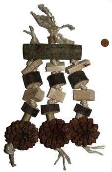 Jouet destructible en bois comestible et matériaux naturels pour perroquets - toy for parrot