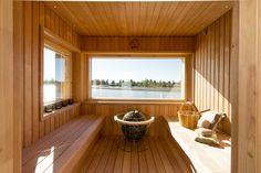 Kalajoki - Heikius Corner House, Saunas, Finland, Home And Family, Windows, Building, Interior, Wellness, Beautiful