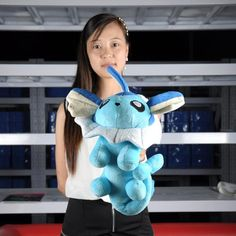 "Vaporeon Pokemon Plush Toy Large Stuffed Doll Anime Pocket Monster Pillow 12"" on Etsy, $23.99"