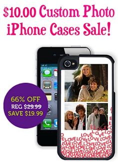 $10.00 Custom Photo iPhone Cases Sale! {+ s/h} ~ make one for your phone, or stash one away as a fun gift!