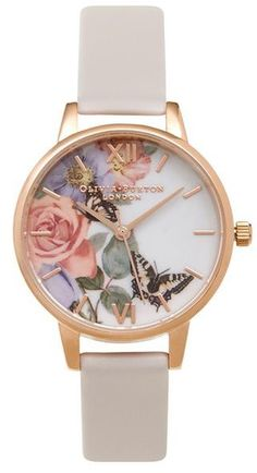 Olivia burton **enchanted garden blush watch
