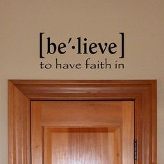 Believe Definition vinyl  decal wall words by OffTheWallExpression, $17.00