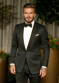 David Beckham suited n booted