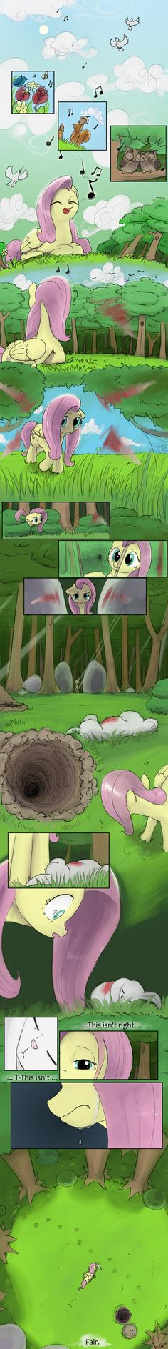 Fan made: origin story of Fluttershy meeting Angel.