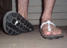 tyre sandals Eco DIY: turn your old tyres into new sandals