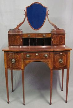 Late 19th C Sheraton Style Dressing Table