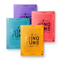 """Monotone — New Single-colour Graphics. """"As the latest addition to viction:ary's colour-themed collection PALETTE, Monotone singles out a distinctive array of visual projects that thrive on the clever use of limited colours."""""""