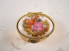 victorian pill boxes | Vintage Victorian Pill Box with Victorian by MissPattisAttic, $12.50
