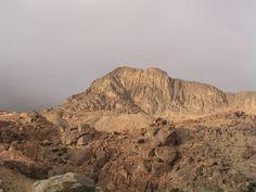 Monte Sinai 2.285 metros . ( monte Horeb o de Moisés). Península del Sinai. Egipto. Entre Africa y Asia