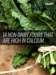 14 non-dairy foods that are high in calcium: If you don't eat dairy, you're not doomed to brittle bones. Fill up on these 14 calcium-rich foods that don't contain a drop of milk. Calcium Enriched Foods, Foods That Contain Calcium, High Calcium, Calcium Rich Foods, Calcium Benefits, Health Benefits, Health Foods, Health Diet, Gourmet