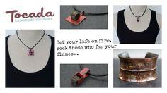 Sieradenlijn van Tocada is uitgebreid met UNIEKE armbanden en kettingen van koper al dan niet in combinatie met lava en leer.
