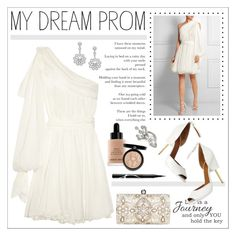 """""""Prom Style Story"""" by lookat ❤ liked on Polyvore featuring Faith Connexion, Accessorize, Mikimoto, Bobbi Brown Cosmetics, Rouge Bunny Rouge, Oscar de la Renta, women's clothing, women, female and woman"""
