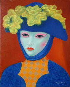 """Saatchi Art Artist Ilir Pojani; Painting, """"Venetian mask 2"""" #art"""
