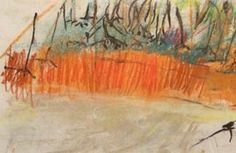 Another Joan Eardley. This one 'Landscape Little Larchwood'