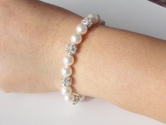 Bridesmaid gifts Set of 34 5 6 Pearl by Godstonestudio on Etsy, $45.00