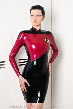 Star Trek Cosplay Latex Dress