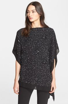 Free shipping and returns on Armani Collezioni Bead Embroidered Tunic at Nordstrom.com. Shining flowers and intricate beadwork illuminate the front of this gorgeous evening tunic designed in a light and fluttering silhouette.