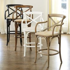 Constance Wood Counter Stool with Arms