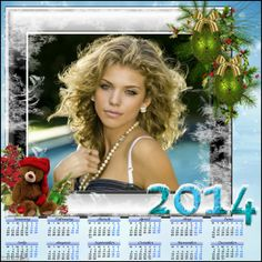 2014 Calendar. Click to add your own photo, and you can save it or have it printed. #calendar #template #2014 #happynewyear